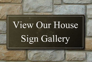 House Signs in Slate - Gallery